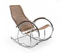 Кресло-качалка,металлическая,Ben, коричневая