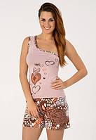 Женская пижама с майкой на одно плечо и удлиненными шортами Onurel 900