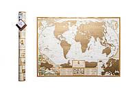 Скретч карта мира на англ языке в античном стиле