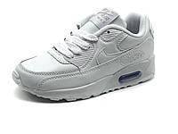 Кроссовки детские Nike Air Max, кожаные, белые, фото 1