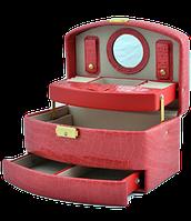 Шкатулка для украшений,ювелирных изделий,бижутерии 8965 (розовая)