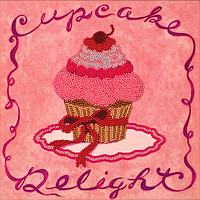 Наборы и схемы для вышивания бисером FLF-006Розовое пирожное20*20 Волшебная страна качественный