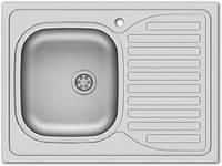 Мойка для кухни накладная прямоугольная правая 600х800х140 Asil Krom 0.4 60x80 матовая