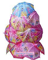 Зонт трость подростковый Принцессы Диснея