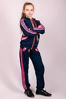 Спортивный костюм детский трикотажный (темно-синий)