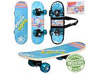 """Детский скейт FX 0006 """"Фиксики"""". Размер 62-19-2,5 см. Алюминевая подвеска, колеса Пвх5."""