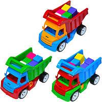 """Машина грузовик """"Алекс"""" с кубиками  маленькими ТМ Бамсик"""