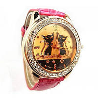 """Часы женские """"Модные кошки"""" - розовые"""
