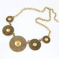 Ожерелье женское Афины бронза