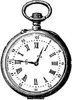 """Штамп резиновый на деревянном блоке """"Часы"""" Hampton Art DF2167"""