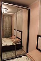 Шкаф купе 2х-дверный ширина 1100мм, глубина 600мм, высота 2100мм в спальню. Одесса