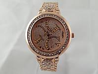 Стильные женские часы Gucci - цвет розовое золото