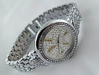 Стильные женские часы Gucci - цвет серебро, белый циферблат