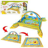 Развивающий коврик с бортиками для новорожденных