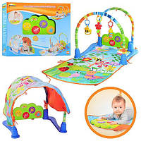 Развивающий коврик-трансформер для младенцев музыкальный
