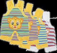 Песочник-майка с вышивкой, кнопки на лямках и внизу, хлопок (кулир), ТМ Ромашка, р. 62, 68, 74, Украина