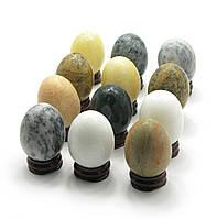 Яйца каменые на подставке (в наборе 12 шт) (6х3,5х3,5)