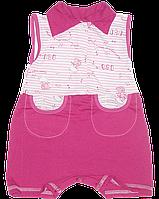 Песочник-майка с воротником поло, на пуговицах, хлопок (кулир), ТМ Ромашка, р. 74, 80, 86, Украина