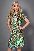 Яркое летнее платье рубашка  с модным принтом  от производителя