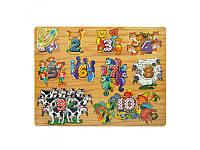Деревянная игрушка Рамка-вкладыш Woody MD 0046  2 вида