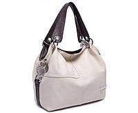 Стильная женская сумка WeidiPolo белая (молочная)