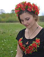 Женская футболка-вышиванка розы