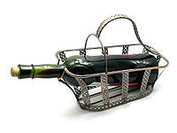 """Подставка для бутылки  """"Корзинка"""" металл (21х25,5х12  см)"""