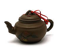 Чайник глиняный в подарочной упаковке (350мл.)(18х17х10 см)