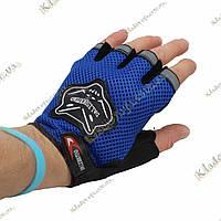Велосипедные перчатки FOX (blue)