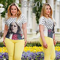 """Стильная женская футболка """"Принт 3д"""""""