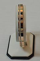 Серебряный браслет  925 пробы с накладками золота 375 пробы.