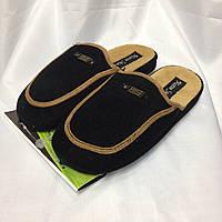Домашние мужские тапочки черного цвета на анатомической подошве, размер 41