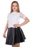 Блуза белая для девочки подростка