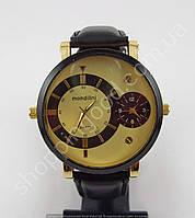 Мужские наручные часы Mondillni 013266 большие черные с золотом