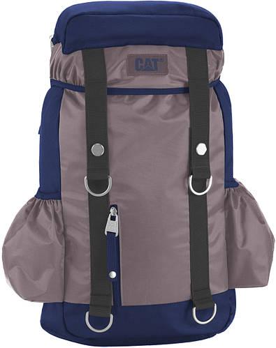 """Городской рюкзак на 20 л. с отделом для ноутбука 15,6"""" CAT (Caterpillar) Mochilas: 83188;203 серый с синим"""