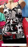 Женская пижама на лето №1005 шорты
