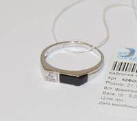 """Мужское серебряное кольцо с ониксом """"496"""""""