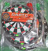 Дартс, мішень MS 0096 D-36.5 см, двухсторонній, дротики 4шт