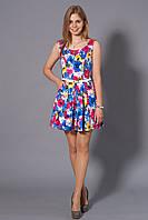 Оригинальное женское платье в цветочный принт