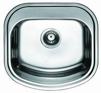Мойка кухонная Cristal UA7701ZS (OLIVIA)  прямоуг. врезная (с закругл. углами) 490x470х180 DECOR