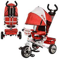 Детский трёхколёсный велосипед (бело красный) Profi Trike EVA Foam Код M5363-02UKR