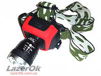 Налобный фонарь Police 6899 30000W встроенный аккумулятор +установка батарей!