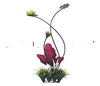 Растение пластиковое Hagen Fluval Chi lily pad and Plant Grass (Трава с цветами)