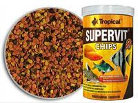 Корм для донных рыб Tropical Supervit Chips, 1000 мл