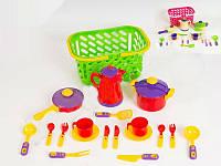 Посуда в корзине детская