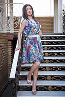 Летнее легкое и нежное платье Шифон синий
