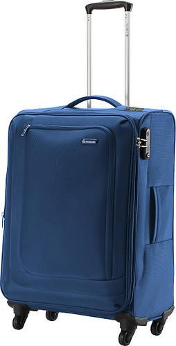 Практичный вместительный чемодан из полиэстера 66/77 л. Carlton Clifton 901J468;41 синий
