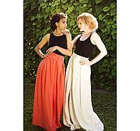Хлопковая юбка на широком поясе