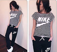 Женский  спортивный костюм  Найк (штаны + футболка)