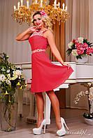Женское короткое летнее платье из шифона Цвета в наличии